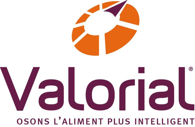 Logo Valorial : Osons l'aliment plus intelligent
